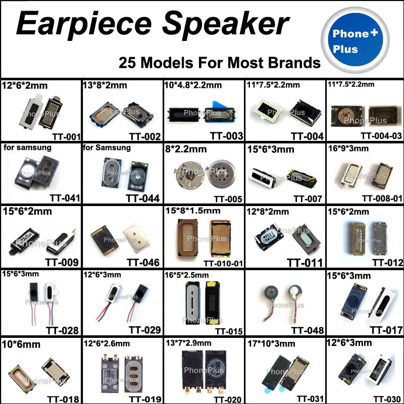 25 Models 50PCS Earpiece Speaker Earphone Receiver With Gift For All Cellphone Common Universal Compatible Used