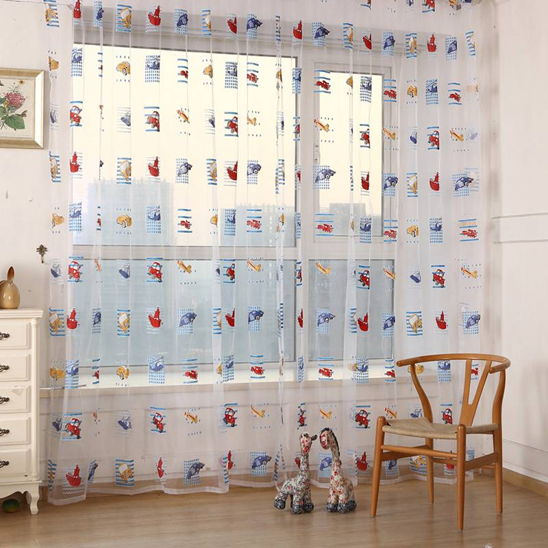 Ordinaire 1PCS Curtain Toddler Kids Car Pattern Voile Panel Sheer Door Room Drape  Window Curtains Room Decoration In Curtains From Home U0026 Garden On  Aliexpress.com ...