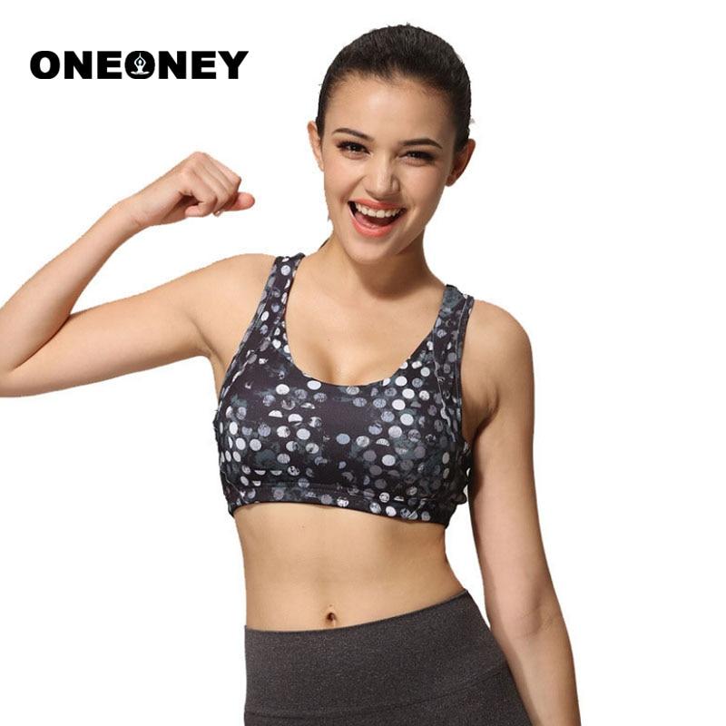 Woman Dot Print Sports Bras Female Vest Running Underwear Top Sports Fitness Yoga Tank Top Bra Sport Clothes For Women Yoga L XL цена 2017