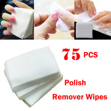 75 pcs lint wiper napkins wipes for Nail Art Gel Polish Remover Cotton paper Nail Wipe manicure tools