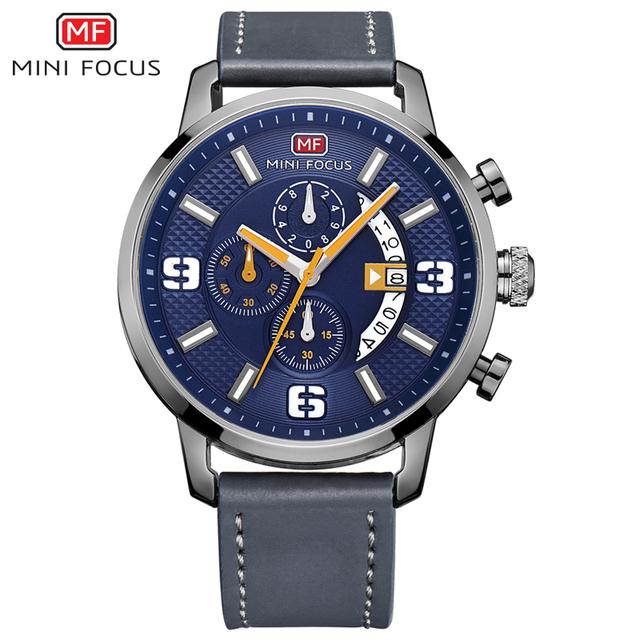 Top Brand Luxury Chronograph Quartz Watch Men Sports Watches Military Army Male Wrist Watch Clock MINI FOCUS relogio masculino