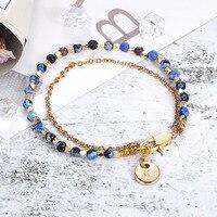 15ced0056971 Bohemia 5 Styles Beaded Womens Bracelet Gold Filed Cross Star Charm Rolo  Chain Bracelet For Women