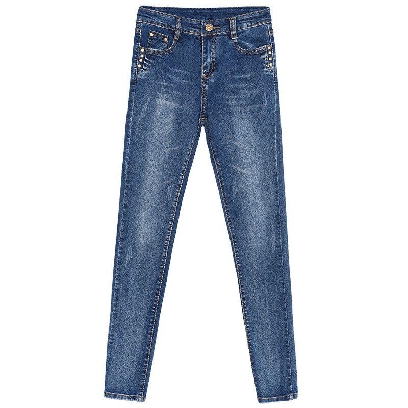 grey Denim Otoño Camisa Pantalones 2019 Elástica Caliente Cintura Alta Skinny blue Jeans Femenina Mujer Lápiz Venta Black Largo Primavera Dama 4ASnB