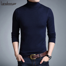 2019 New Fashion Brand Sweater Men Casual Classic Turtleneck Pull Homme Winter Soft Warm Solid Color Men's Pullover Sweaters