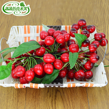 Artificial cherry branches fake fruit model props