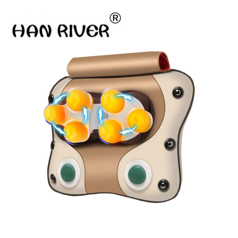 220V Cervical massager neck, waist, shoulder, back, lumbar vertebra, whole body cushion, multi-functional massage pillow new multi functional cervical massage body waist electric pillow shoulder back neck cushions massager