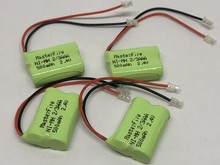 MasterFire 4PACK/LOT Brand New Ni-MH 2/3AAA 2.4V 500mAh NiMH 2/3 AAA Rechargeable Battery Pack With Plugs For Cordless Phone