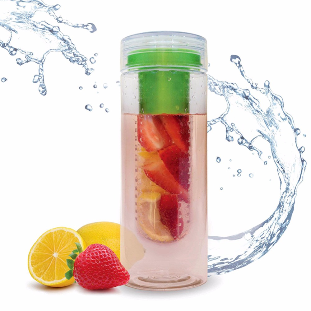 Fruit Infusing Watter Bottle Lemon Juice Maker Camping Cup 800ml Cap Fruit Infuser Bike Travel School BPA Sports Health Cup
