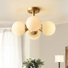 Modern LED pendant lighting Nordic deco luminaires Glass Ball fixture living room hanging lights bedroom suspended lamps industry iron pendant light nordic hanging lights modern pendant lights hanging lamps home lighting fixture deco black