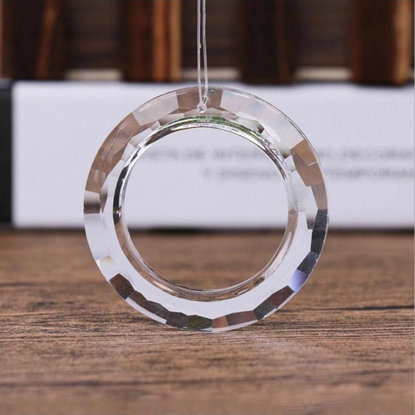 Home Decor 1PCS Handing Ring Chandelier Glass Crystals Lamp Prisms Parts Drops Pendant 50mm mar16