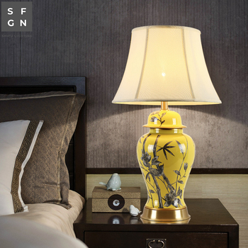 ceramic table lamp Copper bed lamp luxury High-end table ...