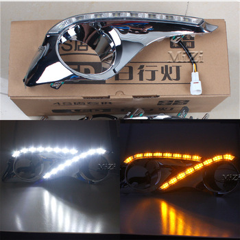 цена на Turn Off and Dimming Car Styling Day Light LED DRL Daytime Running Lights for Toyota Highlander 2012 2013 2014 2015 White Yellow