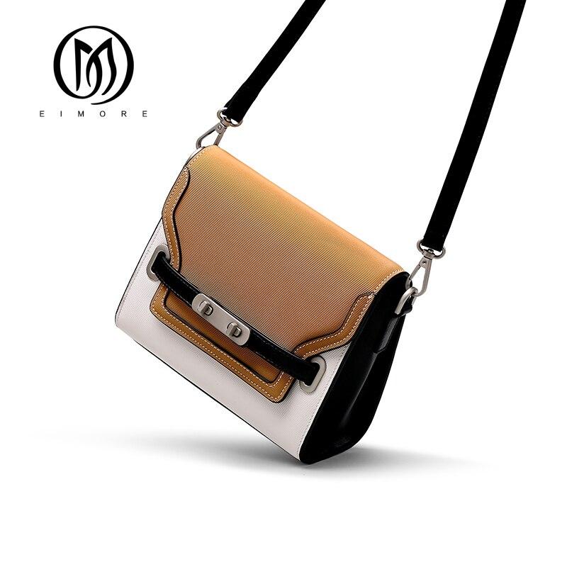 EIMORE Zomer vrouwen Crossbody Tassen Echt Lederen Flap Bag Hoge Kwaliteit Vrouwelijke Kleine Messenger Bag Beroemde Merk bolsa ombro-in Schoudertassen van Bagage & Tassen op  Groep 1