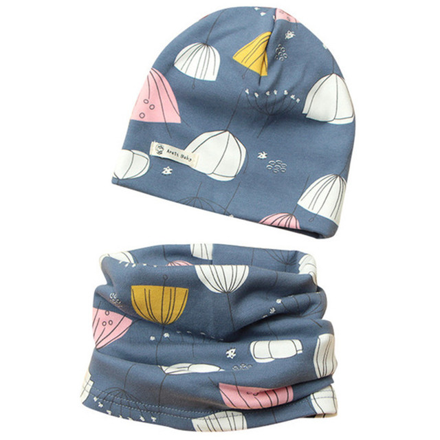 2d48857f895 2018 Autumn Winter Children Hat Scarf Set Crochet Baby Hat Girls Boys Caps  Cartoon Baby Boy