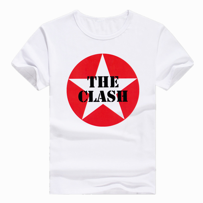 Asian Size Print London Calling Music Rock Band The Clash   T  -  shirt   Short sleeve O-Neck   T     shirt   For Men And Women HCP4165
