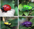 2PCS/LOT Fighting Nano bug Insects scrab Toys Mini smart toys fighting insects reptiles Nano Shaking worm