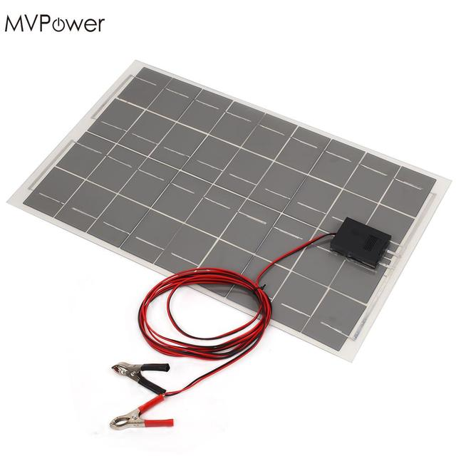 Solar Panel Battery Bank >> Mvpower 18v 30w Portable Solar Power Panel Car Battery Bank Charger