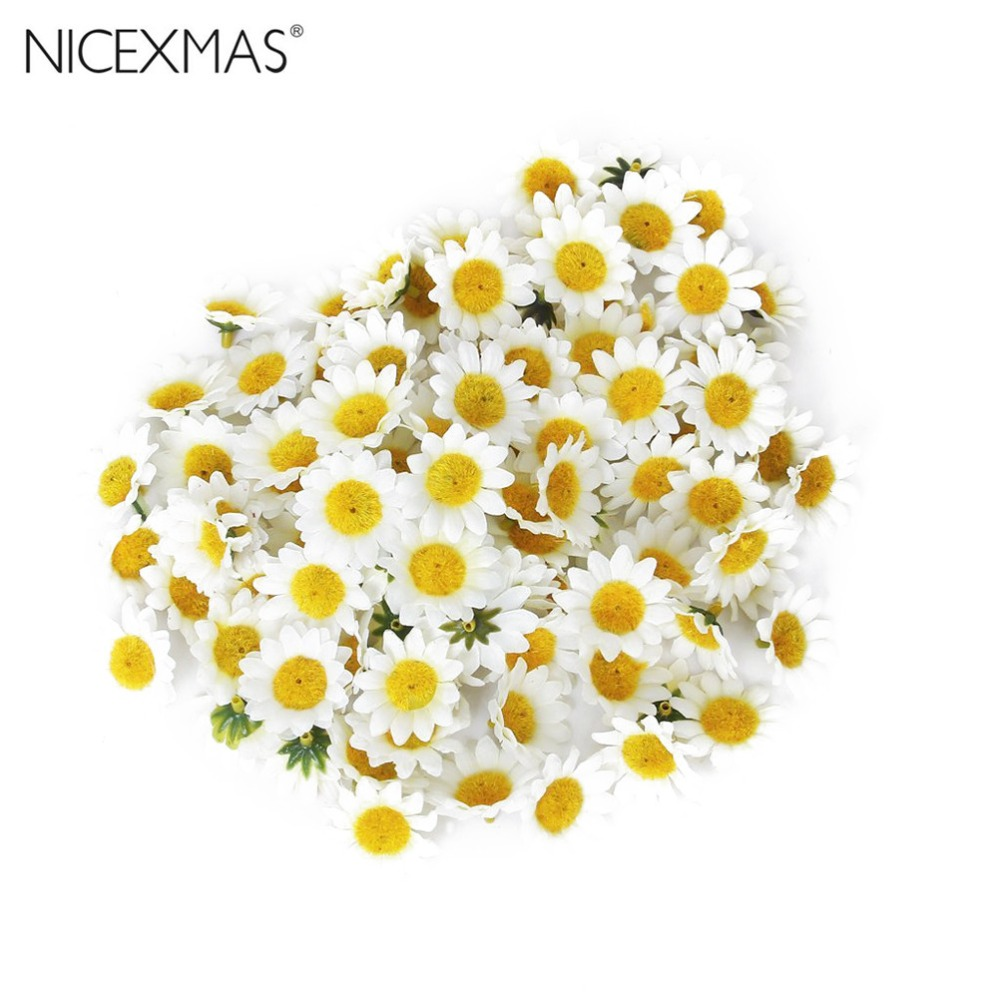 Online buy wholesale artificial daisy from china artificial daisy 100pcs artificial gerbera daisy flowers heads for diy wedding party whitechina dhlflorist Gallery