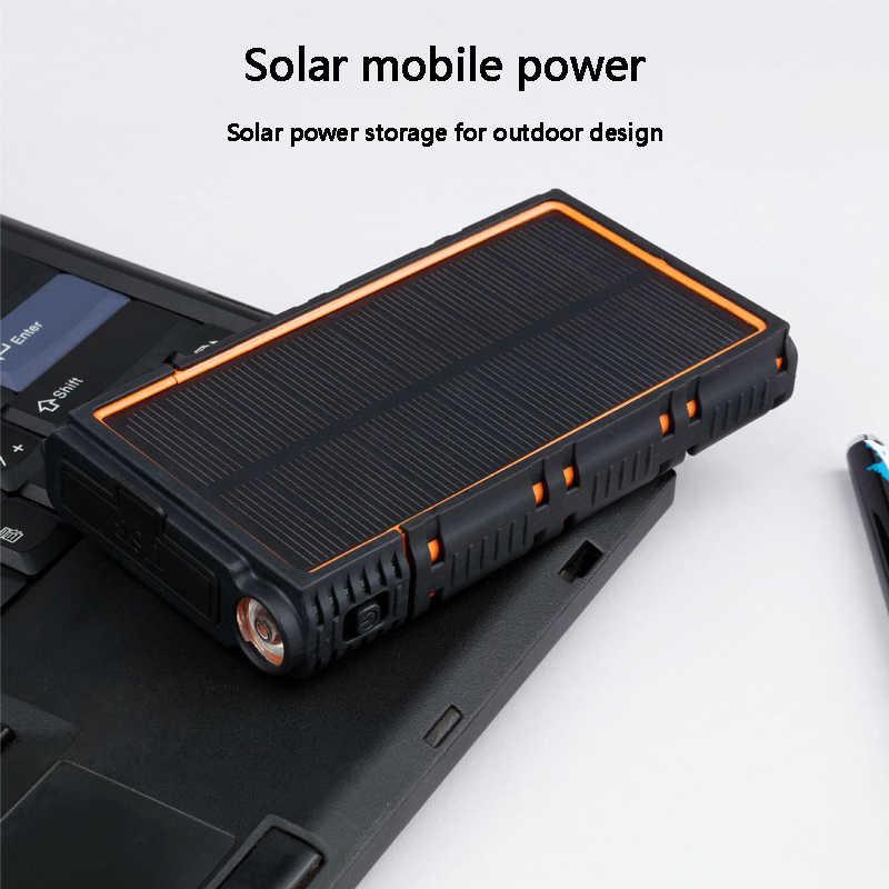 بنك الطاقة 10000mAh متعددة الوظائف الشمسية مقاوم للماء و fallproof قوة البنك بطارية محمولة خارجية ل redmi آيفون X/7/8