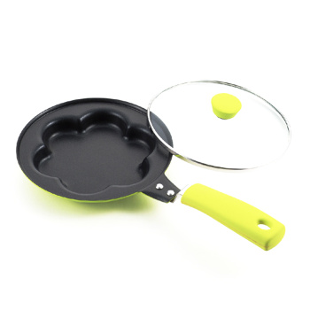 Kitchen Tools Plum Flower Frying Pan With Lid Omelette Cake Pan Fried Eggs Model