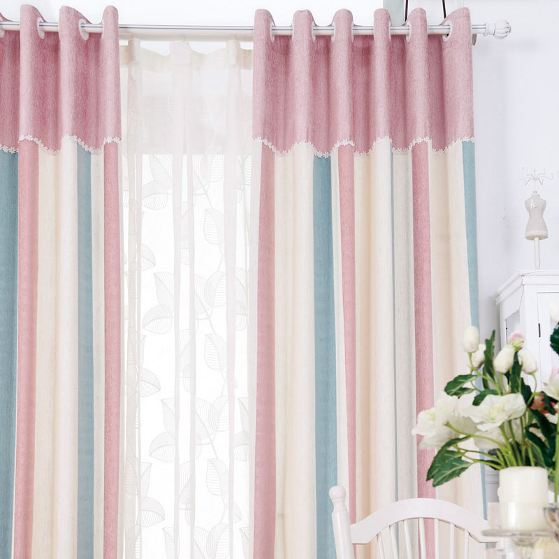 Soft Blackout Curtains Fabrics For Bedroom Chenille Home Window