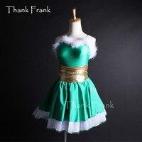 Feather Christmas Dance Costume Girls Adult Camisole Ballet Tutu Dress C259