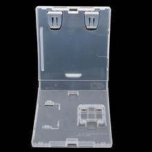 بطاقة الألعاب خرطوشة البلاستيك قذيفة واقية مربع ل N DS لايت ل N D SI بطاقة حالة حقيبة للتخزين استبدال قذيفة