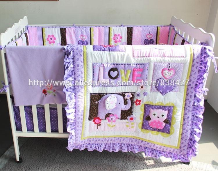 Baby Bedding Ups Free Set Bed Linen Baby Ropa De Cama Infantil Quilt Sheet Bumper Bed Skirt Included Last Style