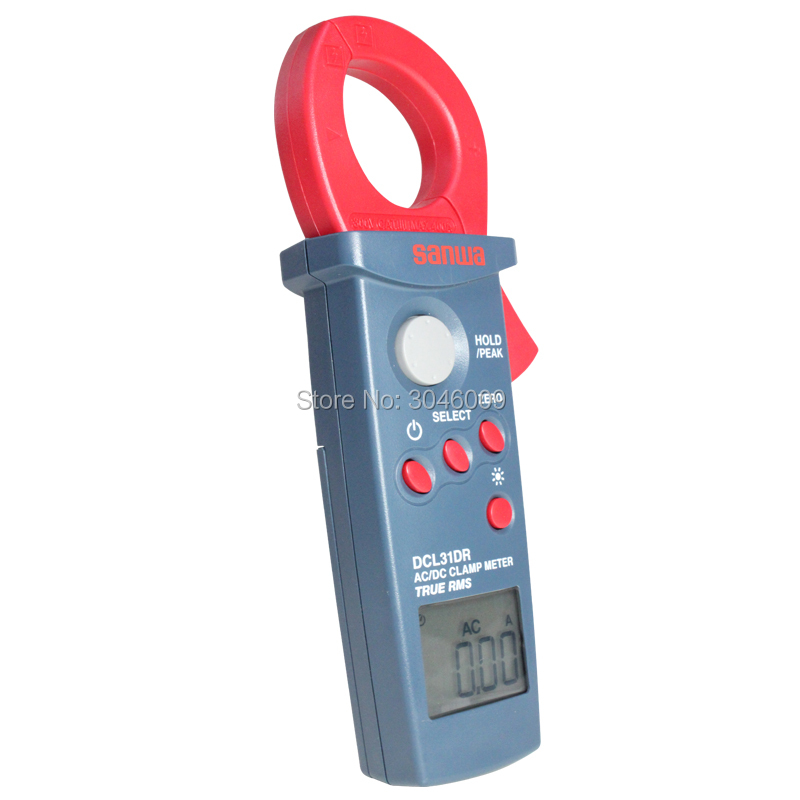 Sanwa DCL31DR DC/AC RMS mini clamp meter; 400A digitale amperometro - 5