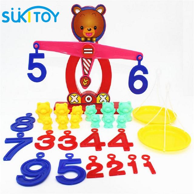 SUKIToy Children gift Learning & Education toys Brain balance w/weight&digital Plastic Math toys Educational games SK024