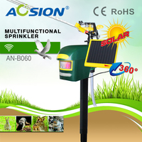 Aosion Solar Motion Activated Sprinkler Animal Repeller With Strong Led Flash To Repel Birds Cats Dogs