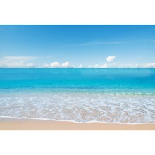 Laeacco Tropical Seaside Landscape Blue Sky Cloud Scene Children Photography Backdrops Photographic Backgrounds For Photo Studio цена