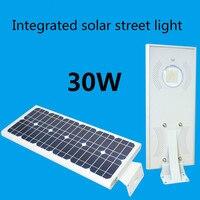 Интегрированный Солнечный свет Солнечный Сенсор свет светодио дный свет неотъемлемой Солнечный уличный фонарь 30 Вт 18 В Панели солнечные
