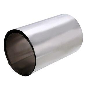 Mayitr 1 шт. Серебряный тонкий титановый лист Gr2 титановая фольга высокой чистоты Ti металлическая квадратная пластина лист фольга ремесло 0.1x100x500мм