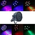 Professional 18W AC85-265V LED Stage Light RGB PAR LED DMX Stage Light Effect DMX512 Master-Slave Led Flat for DJ Disco Party