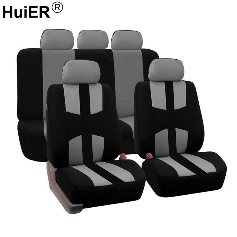 Huier универсальное автокресло крышка полиэстер ткань подходит для большинства автомобильных автомобиля корабля укладки сиденья автомобиля...