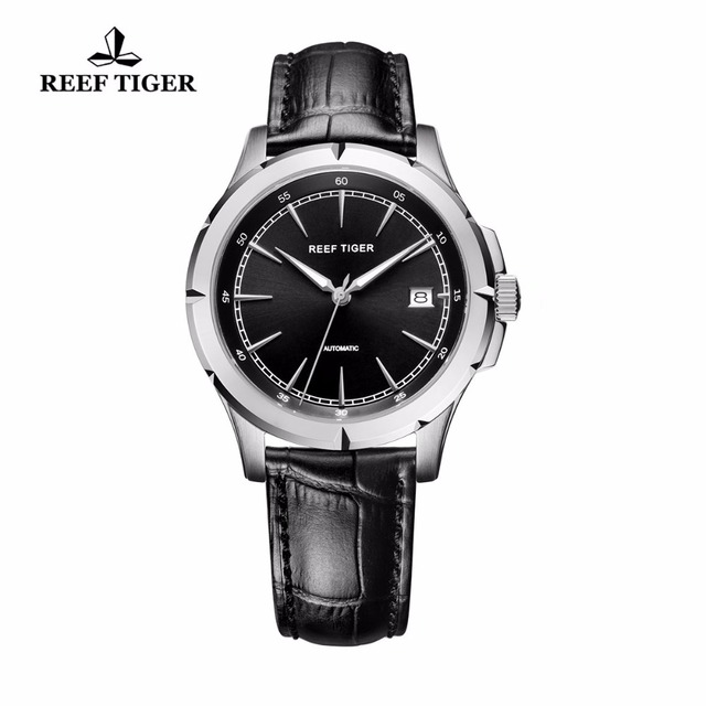 Reef Tiger/RT Watches 2018 New Luxury Brand Automatic Watch Date Business Watches Steel Case Luminous Watch for Men