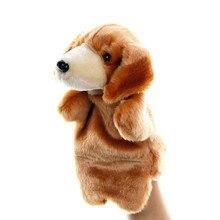 цены на Animal Hand Puppet dog Dolls Plush Hand Doll early education Learning Baby Toys Marionetes Fantoche Puppets for telling story  в интернет-магазинах