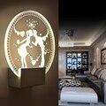 Акриловый светодиодный настенный светильник  современный креативный прикроватный светильник для гостиной  спальни  кабинета  китайского к...