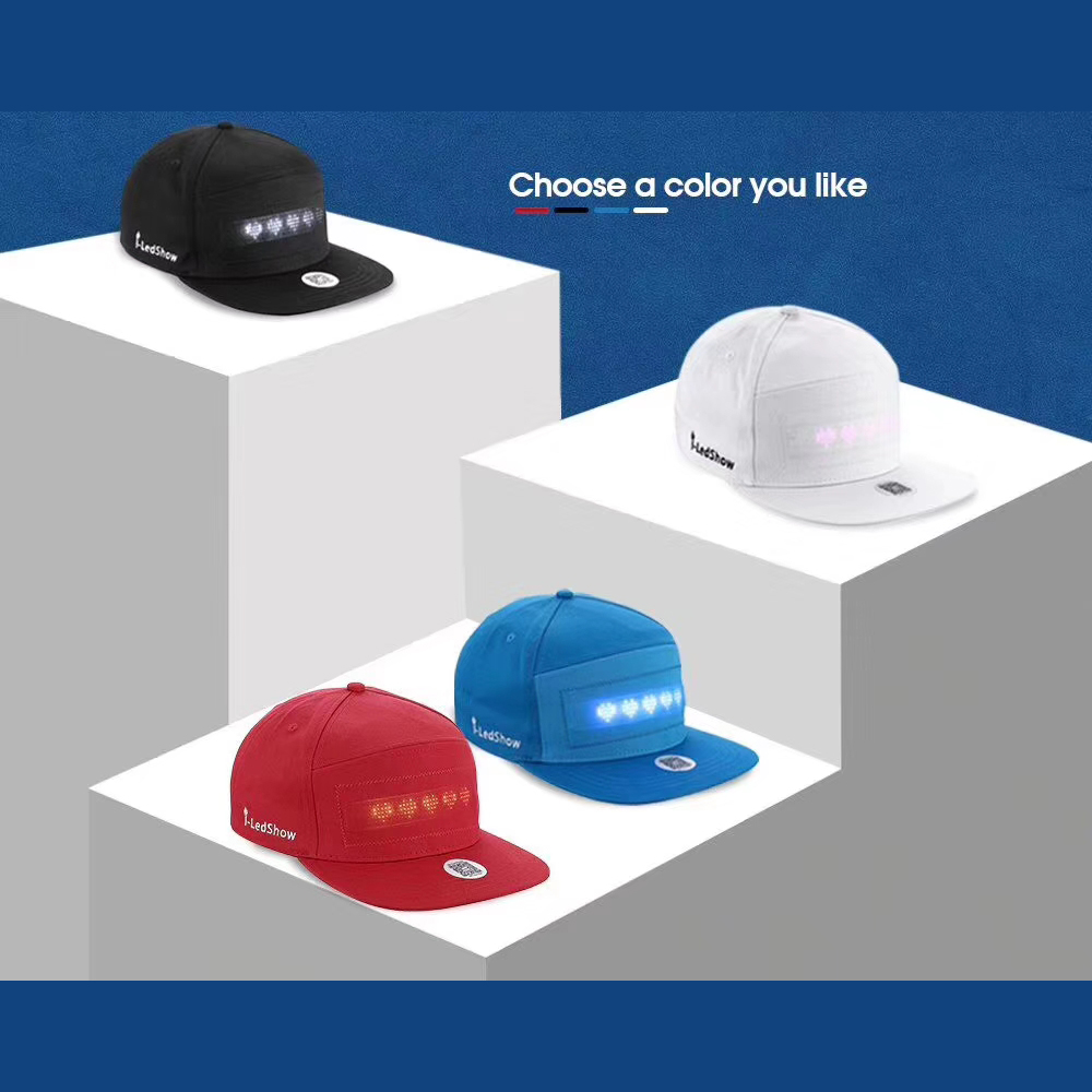 Bluetooth Led Hat Usb Charging App Control Diy Led Message Hat Led Scrolling Message Led Screen Display Hat Led Message Cap Circuits Aliexpress