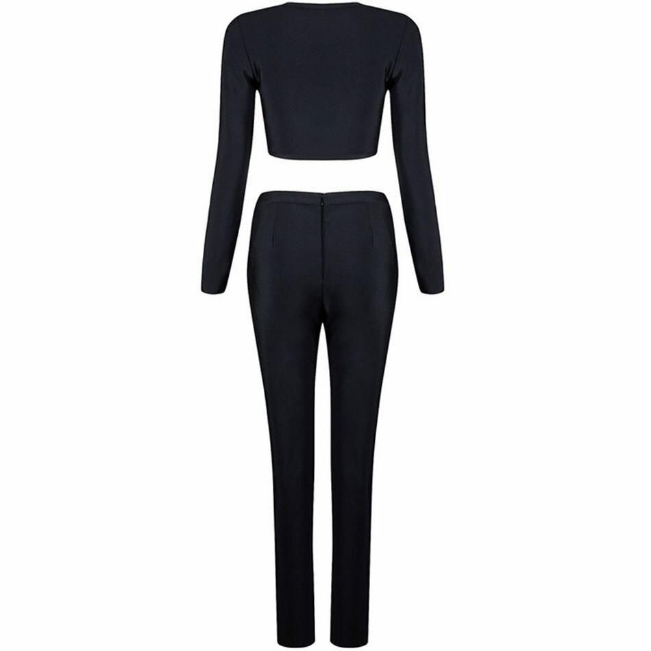 Pièces Bandage Moulante Et Nicole Pantalon Black Mode Nouveau Noir Abricot Ensemble De Belle Deux Party Veste 2017 Femmes Celebrity Piste Ux7wrzUq6