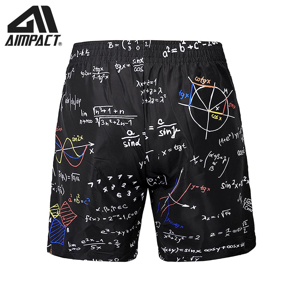 Quick Dry   Board     Shorts   for Men Creative Equation Summer Holiday Sea Beach Surf Swimming Trunks Casual Homewear Hybird AM2158