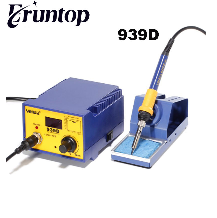 YIHUA 939D 110v/220V 75W Constant temperature Antistatic Soldering Station Electric Soldering Iron yihua 862d 750w constant temperature antistatic soldering station solder iron heat air gun