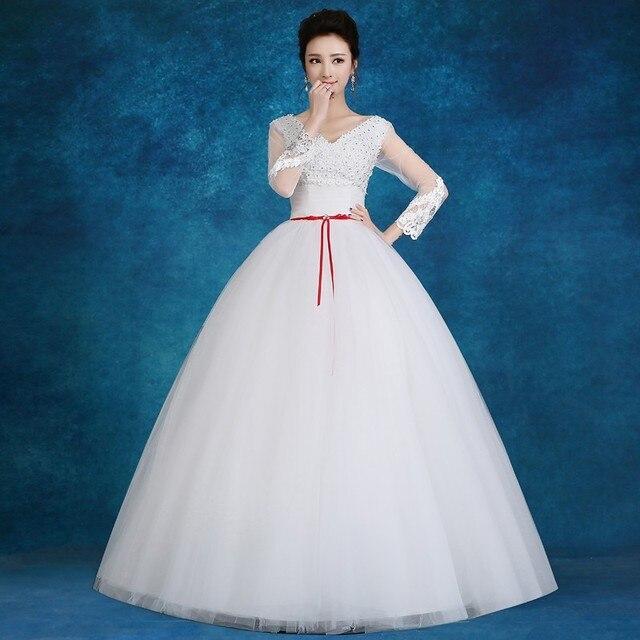 Custom Made 2016 Spring Autumn New White Wedding Dresses Princess ...
