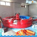 Sea Shipping Giant Interactive Game Mechanical Rodeo Bull With Inflatable Mattress and blowers