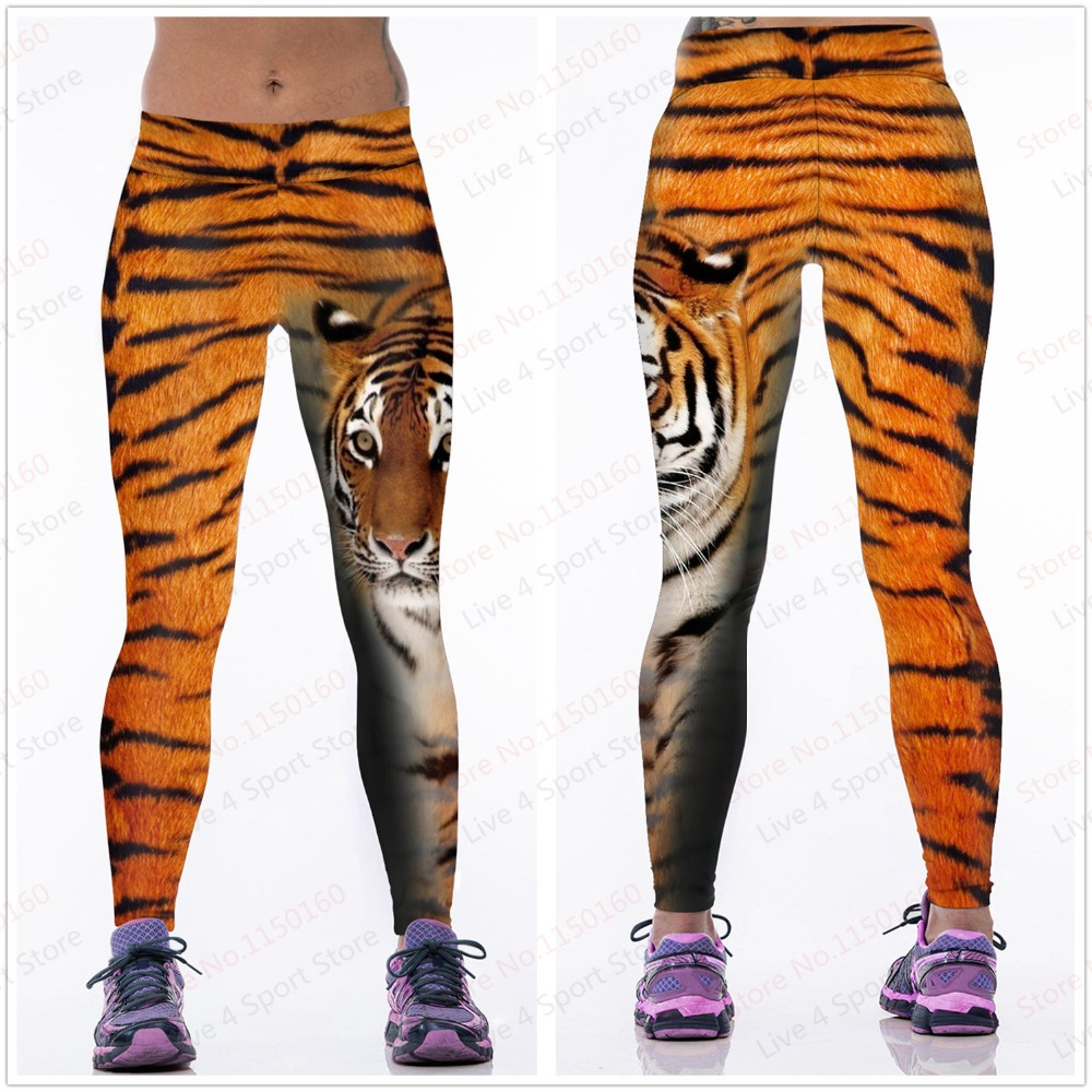 c2b76bd11f Exercise Sports Leggings Animal Tiger Printing Women Yoga Panther Leopard  Pants Elastic Tights Fitness Running Slim pants-in Yoga Pants from Sports  ...