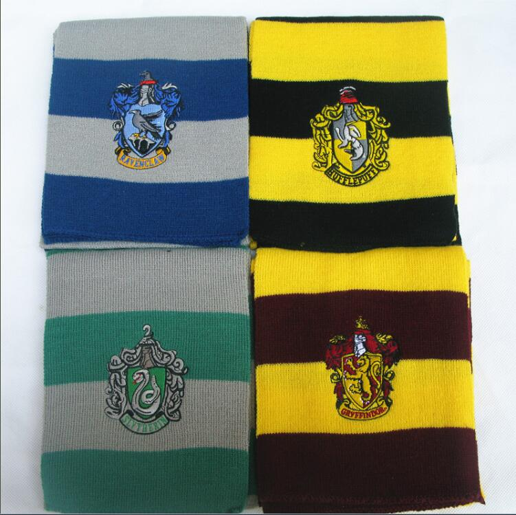 Magic-School-harri-potter-cosplay-costume-scarf-Hermione-Gryffindor-Ravenclaw-Slytherin-Hufflepuff-Scarf-for-Boys-and