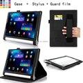 Para Lenovo Tablet Yoga 2 10 pulgadas de la tableta 1050F / 1051 soporte de cuero del Folio del caso ( elástico correa de mano, ángulo, titular de la tarjeta )
