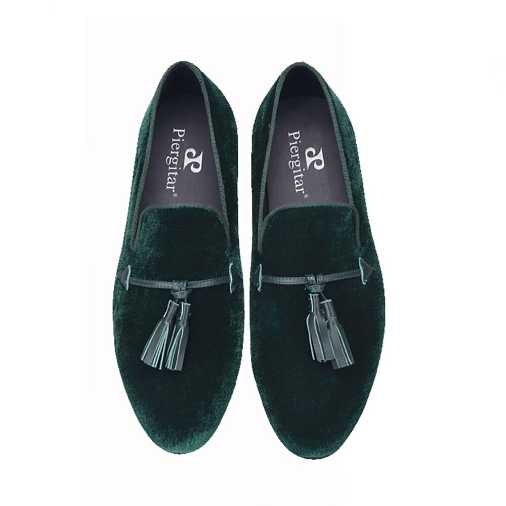 rosado Negro Borla Cinco Los Tamaño Cuero 2018 verde Piergitar Zapatos Hombres Terciopelo azul Y La Más Planos Nuevos Boda De Tinto Colores Fiesta vino qC1xwPU