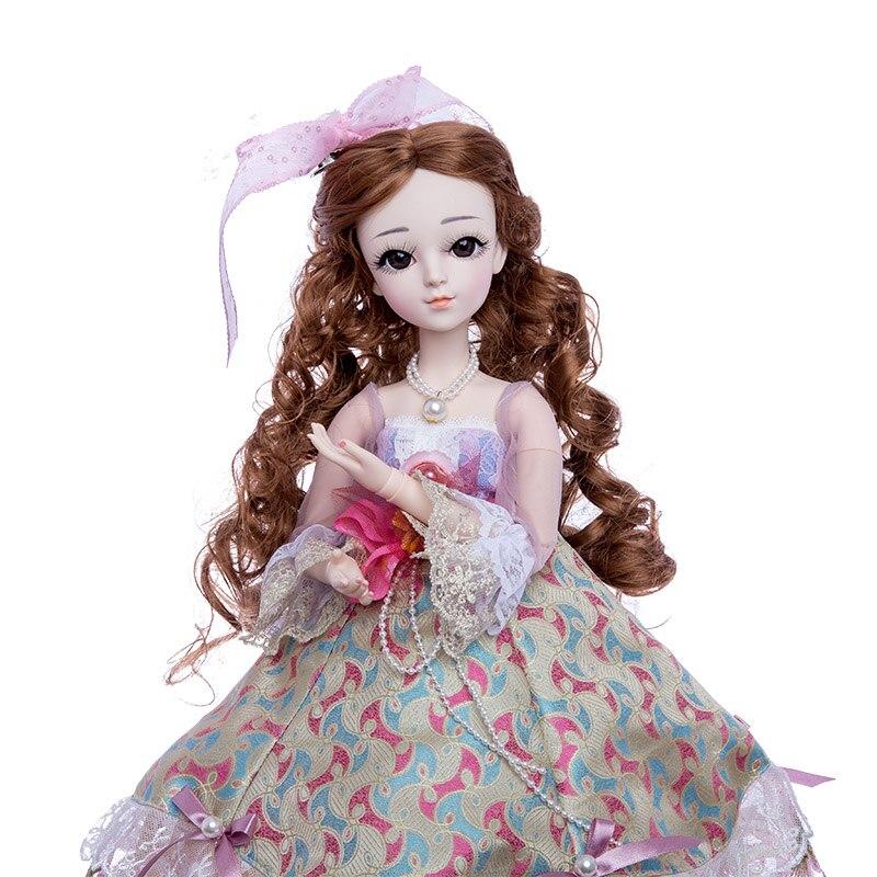Princess anna 1 3 60CM BJD doll DIY fashion wig doll dressed princess doll girl Toys